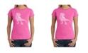 LA Pop Art Women's Word Art T-Shirt - Dinosaur Words and Pictures