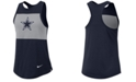 Nike Women's Dallas Cowboys Racerback Colorblock Tank