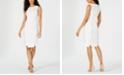 Kasper Textured Scalloped-Hem Sheath Dress