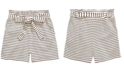 Monteau Big Girls Striped Tie-Waist Shorts