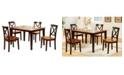 Benzara Decorous Rubber Wood 5 Pieces Dining Set