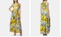 Tahari ASL Floral-Print High-Low Dress