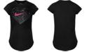 Nike Toddler Girls Geo-Heart-Print Cotton T-Shirt