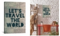 """iCanvas Travel The World by Leah Flores Gallery-Wrapped Canvas Print - 26"""" x 18"""" x 0.75"""""""