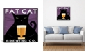 """iCanvas Fat Cat Brewing Co. by Ryan Fowler Gallery-Wrapped Canvas Print - 18"""" x 18"""" x 0.75"""""""