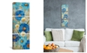 """iCanvas Sunkissed Blue and White Flowers Ii by Silvia Vassileva Gallery-Wrapped Canvas Print - 36"""" x 12"""" x 1.5"""""""