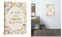 """iCanvas Floral Quote Iii by Lamai Mccartan Gallery-Wrapped Canvas Print - 26"""" x 18"""" x 0.75"""""""