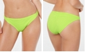 California Waves Juniors' Ribbed Hipster Bikini Bottoms, Created for Macy's