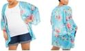 Motherhood Maternity Plus Size Printed Kimono Blouse