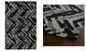 "Kaleen Montage MTG03-02 Black 3'6"" x 5'6"" Area Rug"