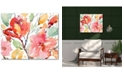 """Courtside Market Watercolor Flowers 16"""" x 20"""" Gallery-Wrapped Canvas Wall Art"""