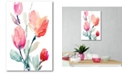 """Courtside Market Tulips Study II 12"""" x 18"""" Gallery-Wrapped Canvas Wall Art"""