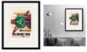 """Courtside Market Grand Tour 16"""" x 20"""" Framed and Matted Art"""