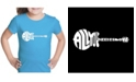 LA Pop Art Girl's Word Art T-Shirt - All You Need is Love