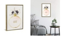 """iCanvas Perfume Round Solid in Gold, Nude, and White Poppy by Amanda Greenwood Gallery-Wrapped Canvas Print - 26"""" x 18"""" x 0.75"""""""