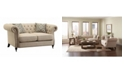 Coaster Home Furnishings Trivellato Button Tufted Loveseat with Large Rolled Arms