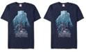 Marvel Men's Black Panther Blue Panther Silhouette Pose Short Sleeve T-Shirt