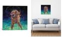 "iCanvas Moonlight Swim by Iris Scott Wrapped Canvas Print - 18"" x 18"""