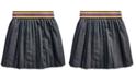 Polo Ralph Lauren Big Girls Twill-Pleated Cotton Skirt