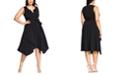 City Chic Trendy Plus Size Notched A-Line Dress