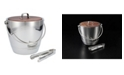 Fortessa Crafthouse by Stainless Steel Round Ice Bucket with Wood Lid and Tongs