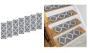 "Ottomanson Ottohome Patterned Non-Slip Pet-Friendly Stair Treads Set of 7, 8.5"" x 26.6"""