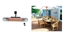 Ener-G+ Infrared Electric Outdoor Heater - Wall Mounted with LED and Remote