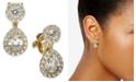 Eliot Danori Danori Cubic Zirconia Clip-On Teardrop Earrings, Created For Macy's