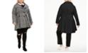 Madden Girl Juniors' Plus Size Skirted Belted Coat