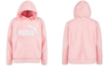 Puma Big Girls Logo-Print Fleece Hoodie