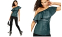 INC International Concepts I.N.C. Faux-Leather One-Shoulder Top & INCEssentials Skinny Jeans, Created For Macy's