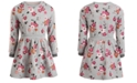 Epic Threads Toddler Girls Floral-Print Sweatshirt Dress, Created for Macy's