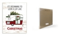 """Stupell Industries Looks A Lot Like Christmas Camper Wall Plaque Art, 12.5"""" x 18.5"""""""