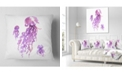 "Design Art Designart Purple Jellyfish Watercolor Abstract Throw Pillow - 18"" X 18"""