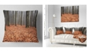 "Design Art Designart Enchanted And Magical Fall Forest Modern Forest Throw Pillow - 16"" X 16"""