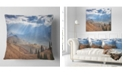 "Design Art Designart Beautiful Mountain Village View Landscape Printed Throw Pillow - 16"" X 16"""