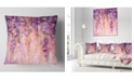"Design Art Designart Pink And Violet Flowers Watercolor Floral Throw Pillow - 18"" X 18"""