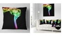 """Design Art Designart Isolated Abstract Smoke On Black Abstract Throw Pillow - 18"""" X 18"""""""