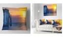 "Design Art Designart Etretat Cliff Normandy Panorama Seashore Throw Pillow - 16"" X 16"""