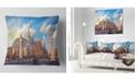 "Design Art Designart Famous Great Palace In Paris Modern Cityscape Throw Pillow - 18"" X 18"""