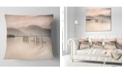 "Design Art Designart Loch Lomond Jetty And Mountains Landscape Printed Throw Pillow - 16"" X 16"""