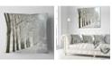 "Design Art Designart Winter Rural Road At Sunrise Forest Throw Pillow - 16"" X 16"""