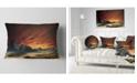"Design Art Designart Beautiful Alien Planet Traos Landscape Printed Throw Pillow - 12"" X 20"""