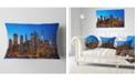 "Design Art Designart Night New York City Panorama Throw Pillow - 12"" X 20"""