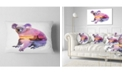 "Design Art Designart Koala Double Exposure Illustration Animal Throw Pillow - 12"" X 20"""