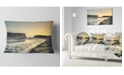 "Design Art Designart Dyrholaey View Unto Reynisfjara Seashore Throw Pillow - 12"" X 20"""