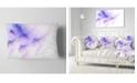 "Design Art Designart Bright Blue Veins Of Marble Abstract Throw Pillow - 12"" X 20"""