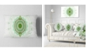 "Design Art Designart Light Green Cryptical Sphere Abstract Throw Pillow - 12"" X 20"""