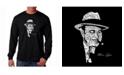 LA Pop Art Men's Word Art Long Sleeve T-Shirt- Al Capone - Original Gangster