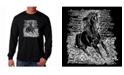 LA Pop Art Men's Word Art Long Sleeve T-Shirt - Horse Breeds